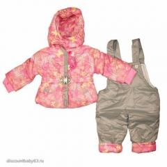Комплект демисезонный для девочки. Куртка и полукомбинезон
